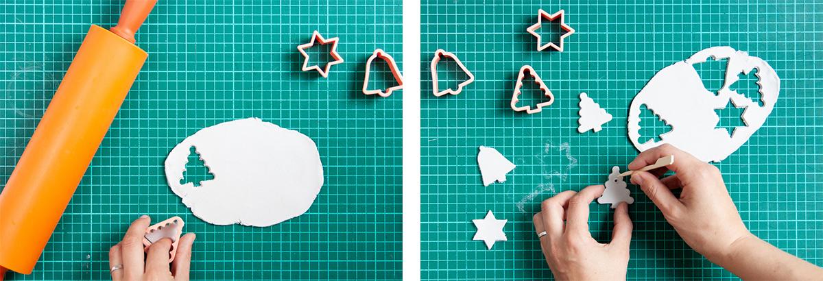 Geometric Christmas cards - DIY - Simple, but stunning Christmas card tutorial - www.yeswemadethis.com