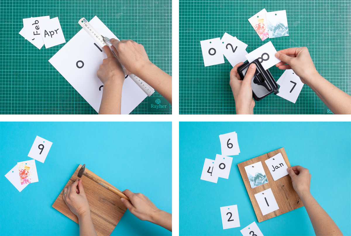 DIY Desk Calendar + a Free Printable - Make your own calendar this year with our free printable! - www.yeswemadethis.com