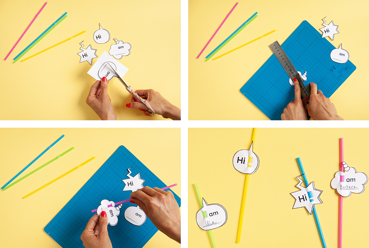 A step-by-step tutorial for DIY Drink Name Tags