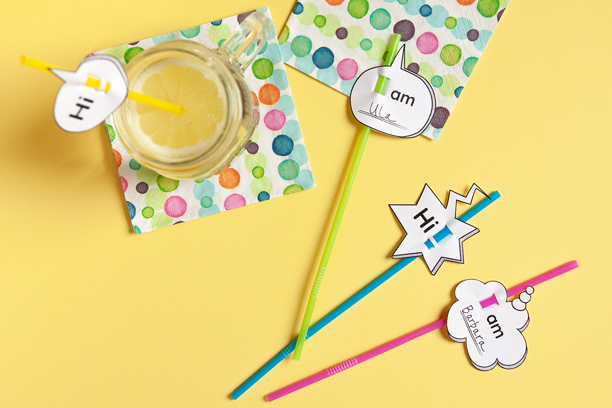 DIY Drink Name Tags Free Printable - Learn how to make these fun drink name tags for your next party. - www.yeswemadethis.com