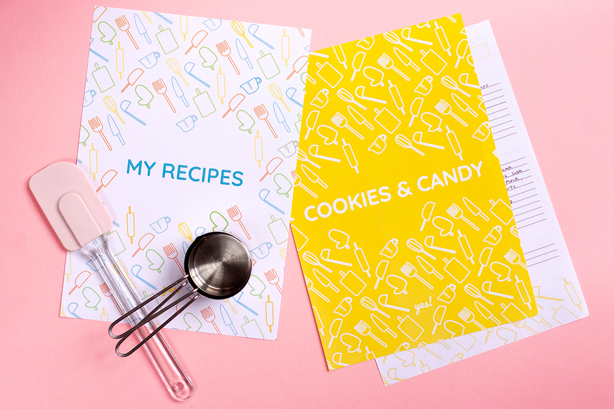 photo relating to Printable Recipe Book titled Do-it-yourself Recipe Ebook with a Totally free Recipe Binder Printable - Certainly