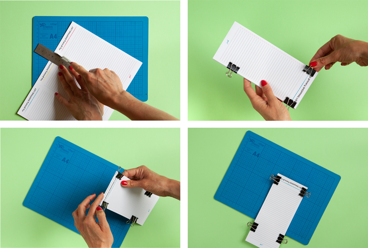 How to make your own notepad