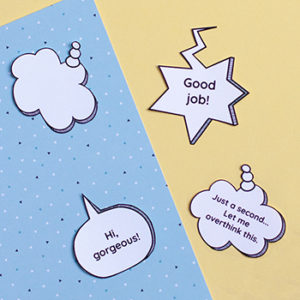 Printable Speech Bubble Stickers