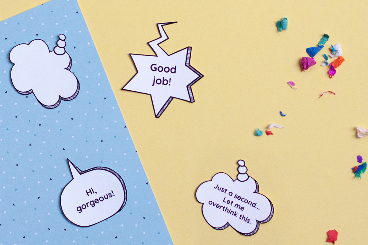 How to use the Printable Speech Bubble Stickers
