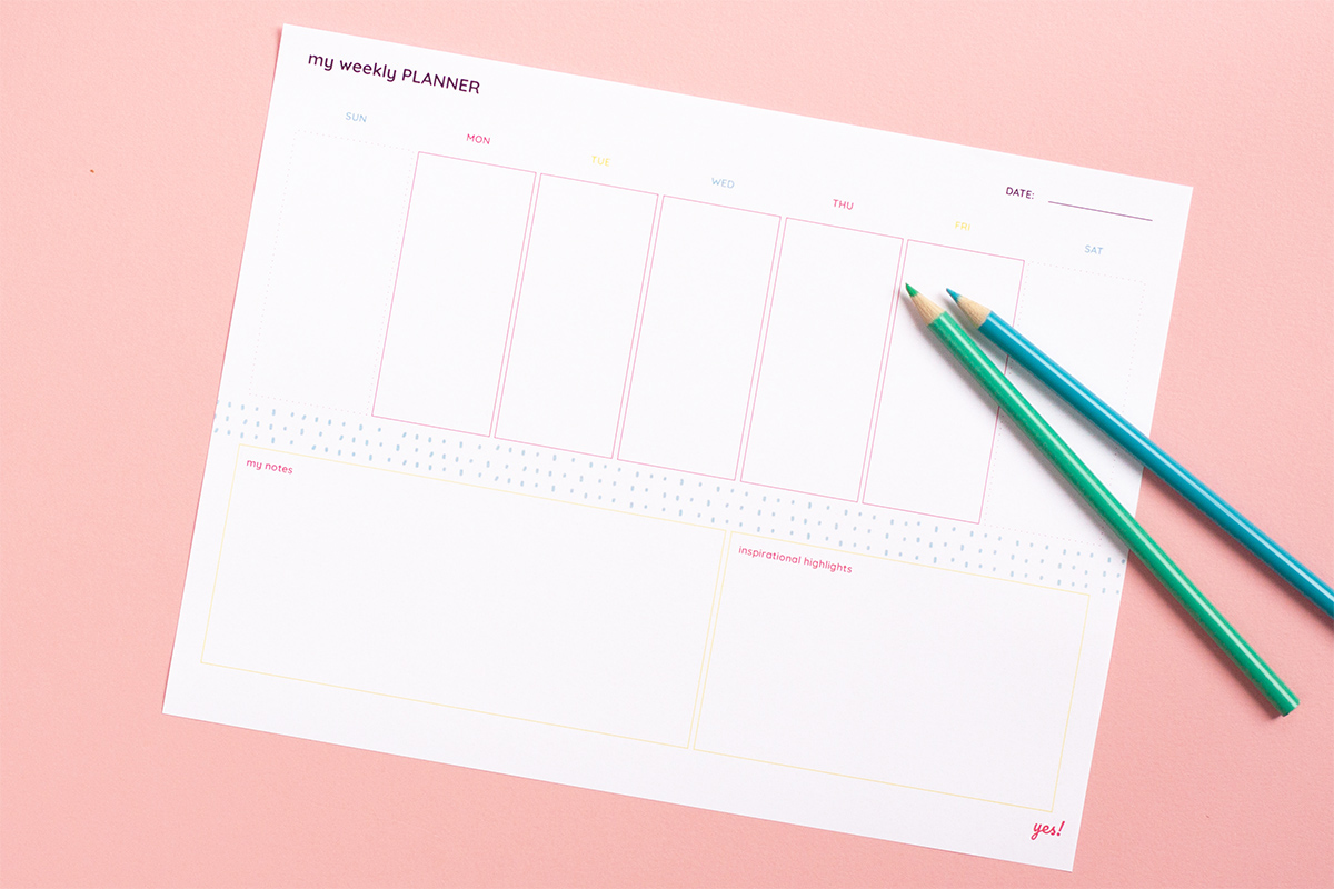 Free Printable Weekly Planner - yes! we made this