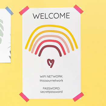 Free Editable Printable Wifi Password Sign Yes We Made This