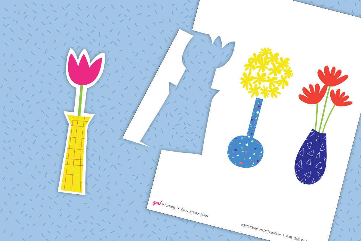 How to cut out the floral printable bookmarks