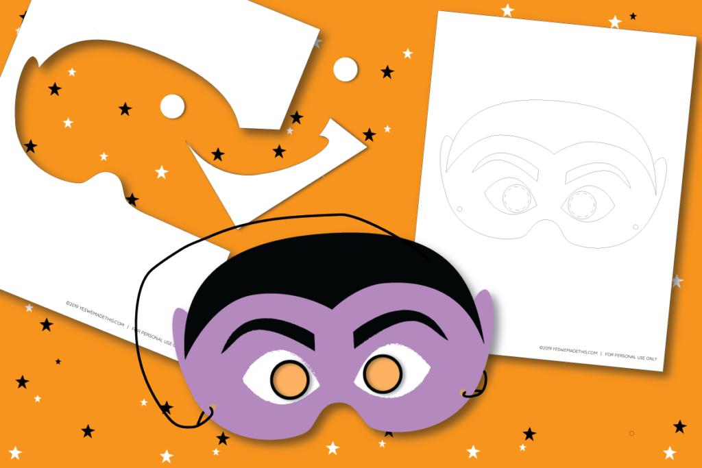 How to Make a Kids Halloween Dracula Mask