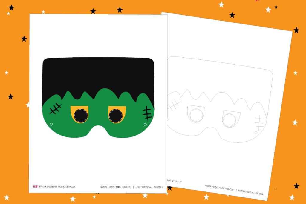 Frankenstein Monster Mask Printable