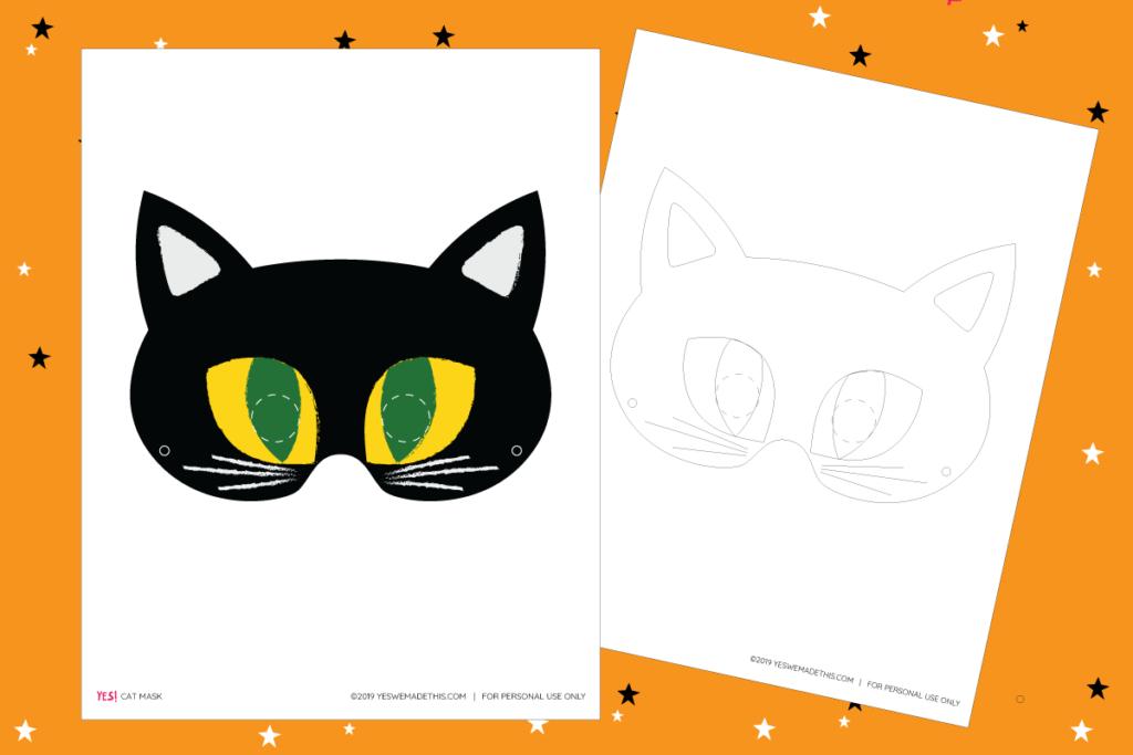 Black Cat Mask Printable