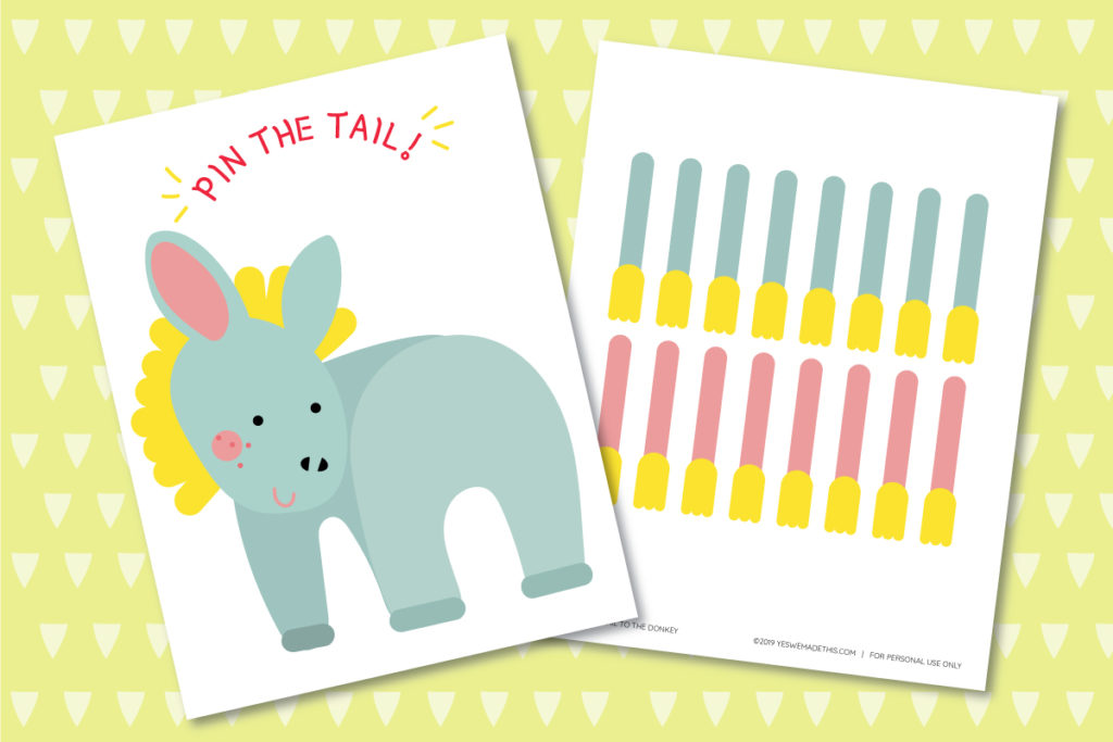 Pin the Tail on the Donkey Printables
