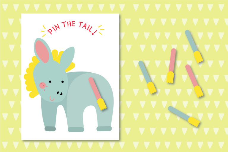 Pin the Tail on the Donkey Printable Game