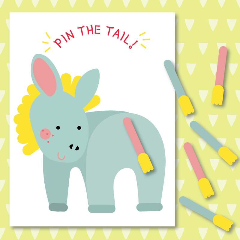 graphic about Pin the Tail on the Donkey Printable titled Pin The Tail Upon The Donkey Printable Sport - Sure! we manufactured this