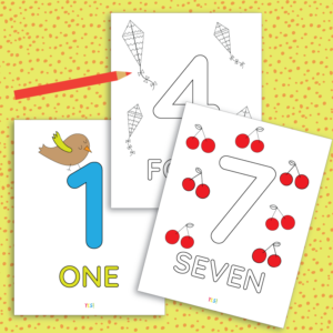 Printable 1-10 numbers coloring pages