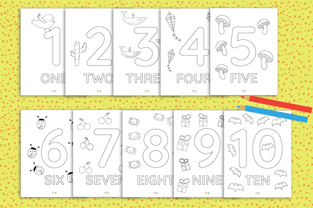 image relating to Printable Numbers identify 1-10 Printable Quantities Coloring Webpages - Certainly! we built this