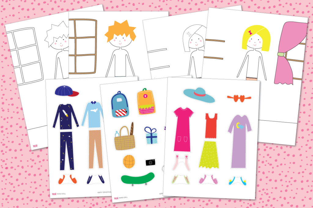 Printable Dress Up Paper Dolls 7 Templates