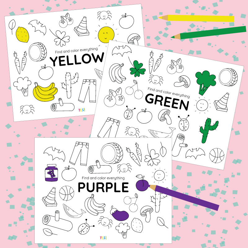 Printable Coloring Pages Of Colors Yes We Made This