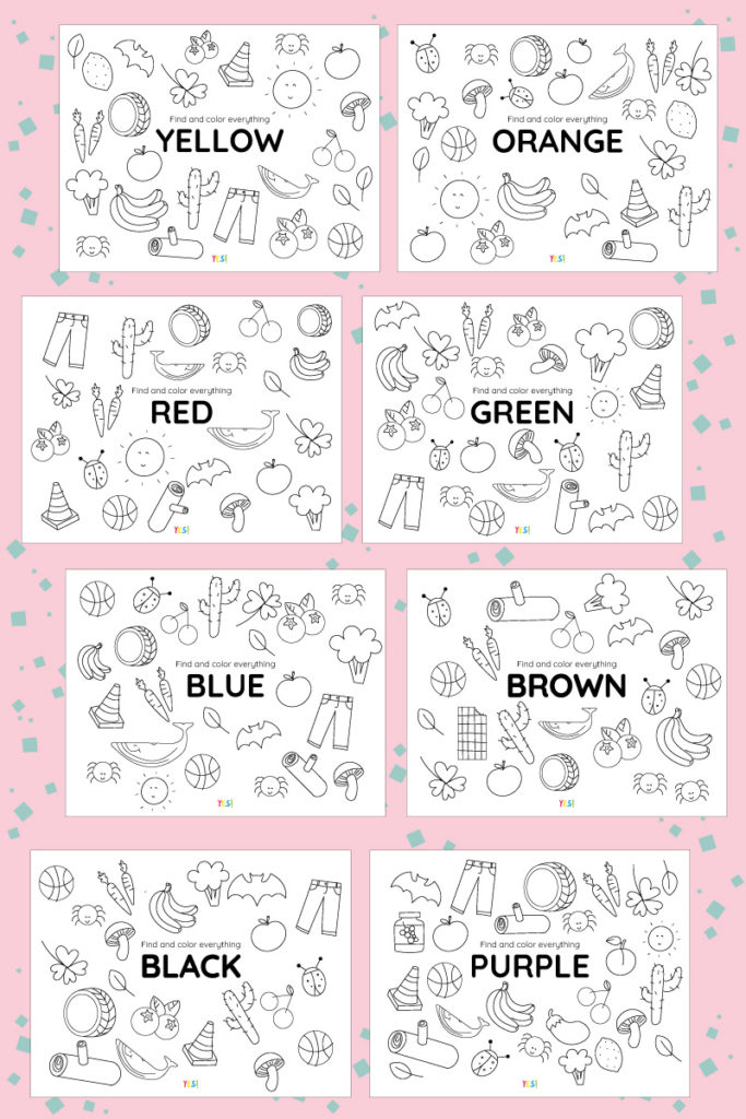 Coloring pages about colors