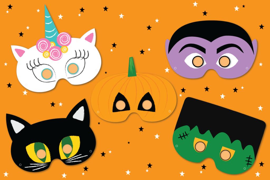 Finished Kids Halloween Masks