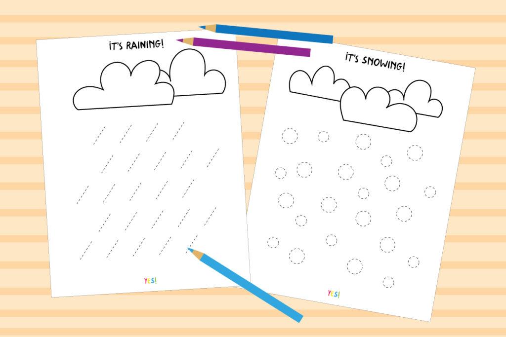 Line tracing worksheets for preschoolers