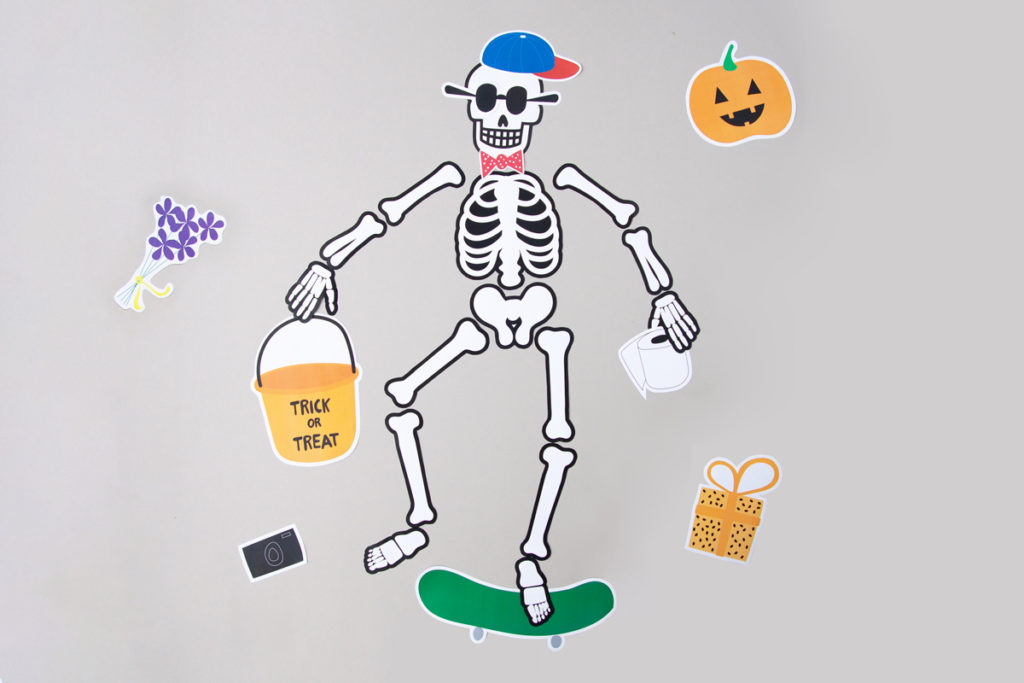 Halloween paper skeleton printable