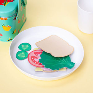 DIY Play Food Sandwich on the Plate
