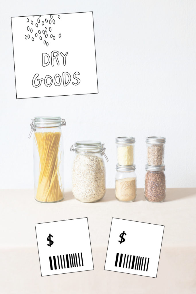 Pretend play supermarket printables