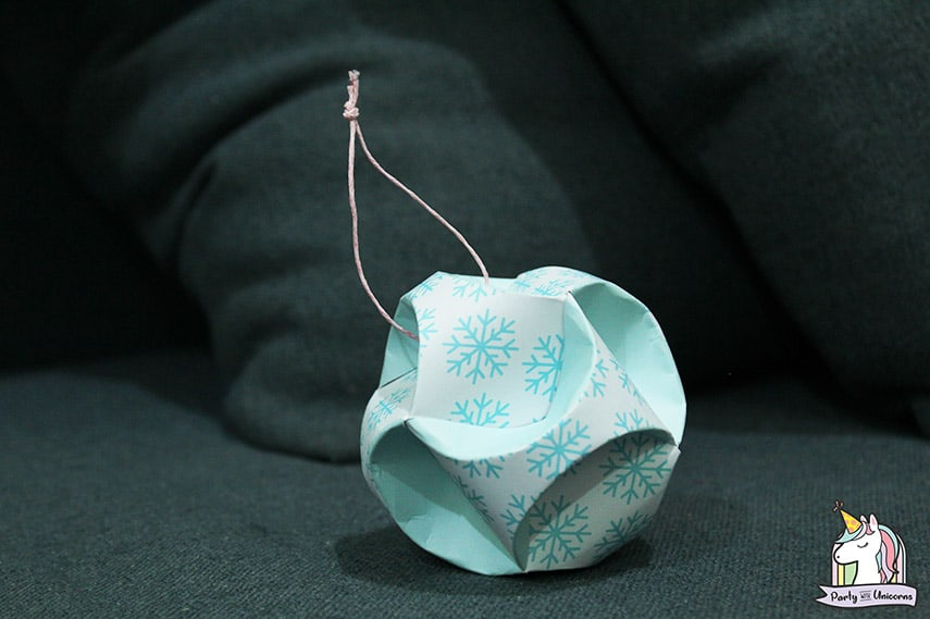 Winter Snowflake Globe Ornament by Party with Unicorns