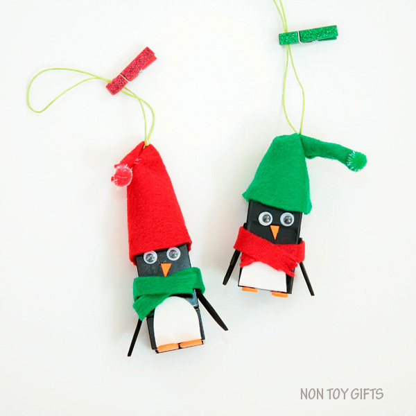 Lego Penguin Ornaments by Non-Toy Gifts
