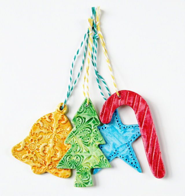 Watercolor Clay Ornaments by Gathering Beauty