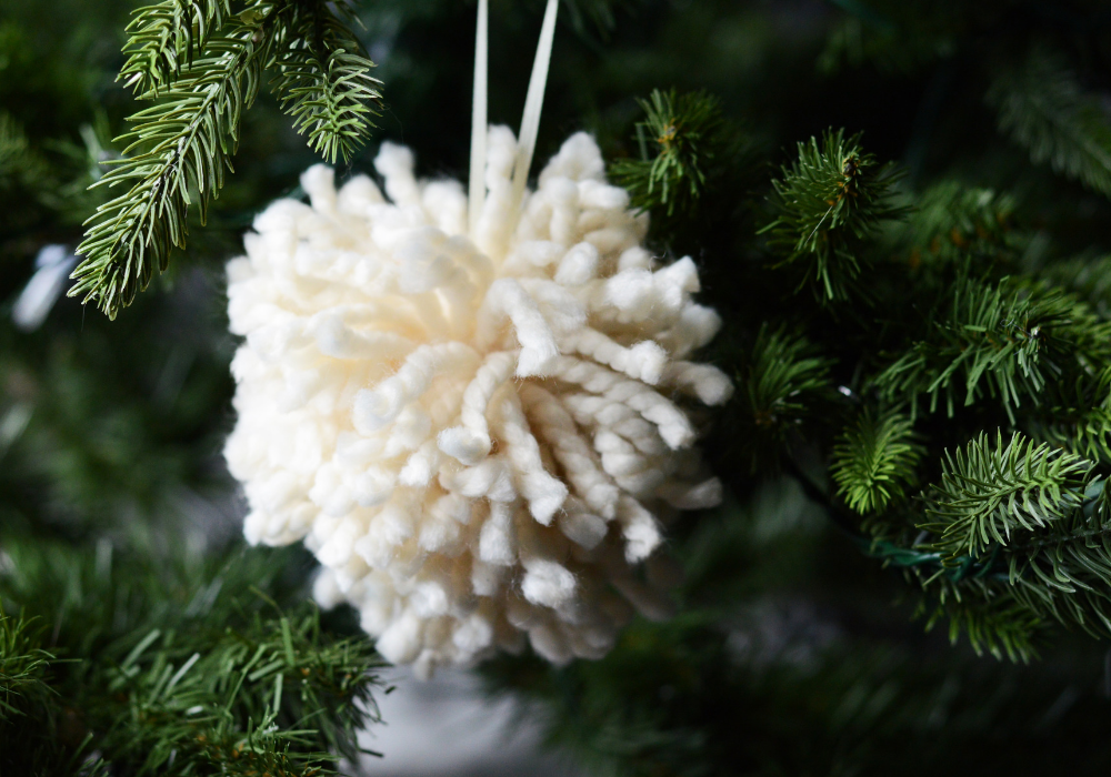Pom Pom Ornament By Down Redbud Drive