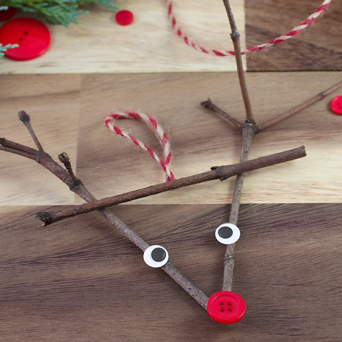 Twig Reindeer Ornament by Fireflies and Mudpies