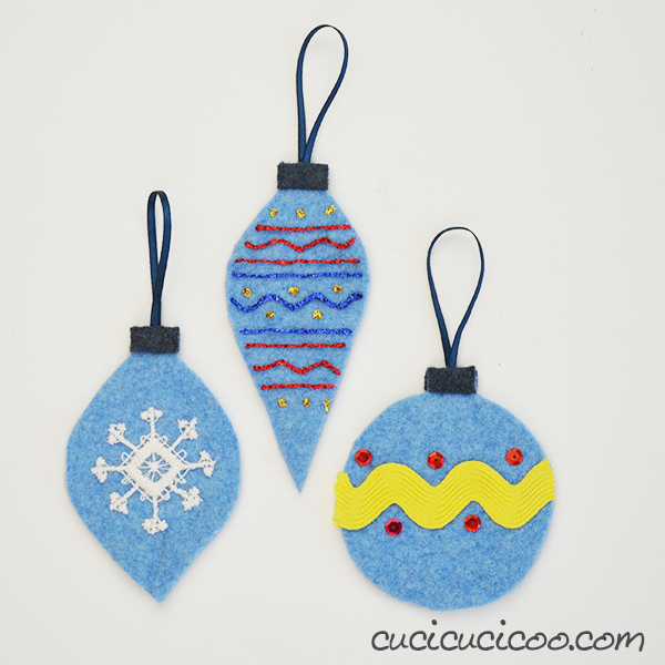 Repurposed Sweaters Felt Ornaments by Cucicucicoo