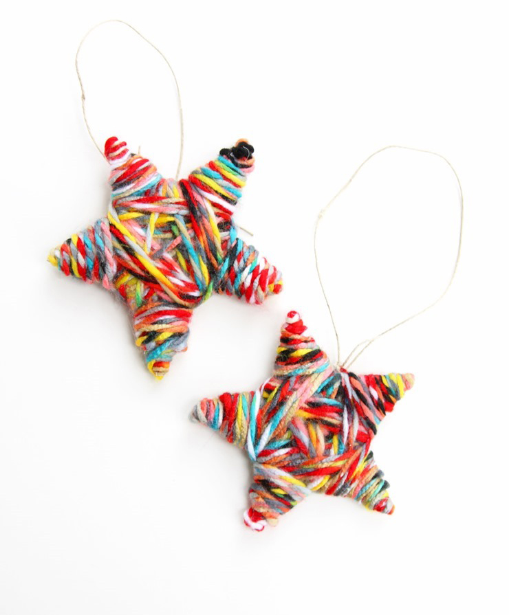 Yarn Star Ornaments by Mama Miss