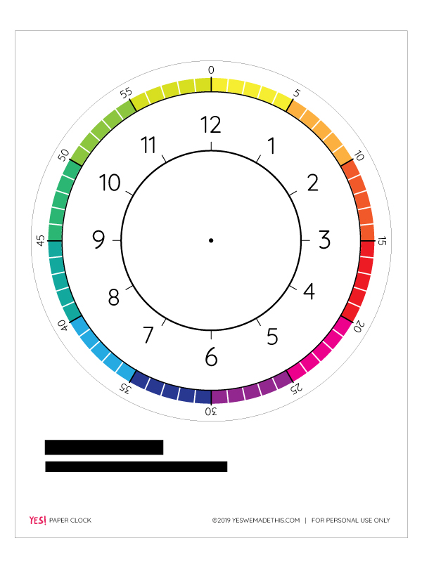 Paper clock free printable template