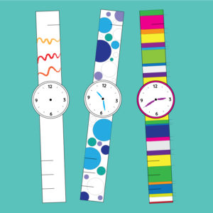 Paper watch to color