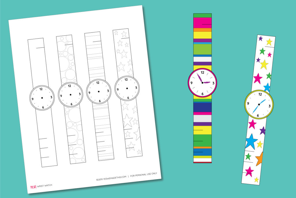 Paper watch template