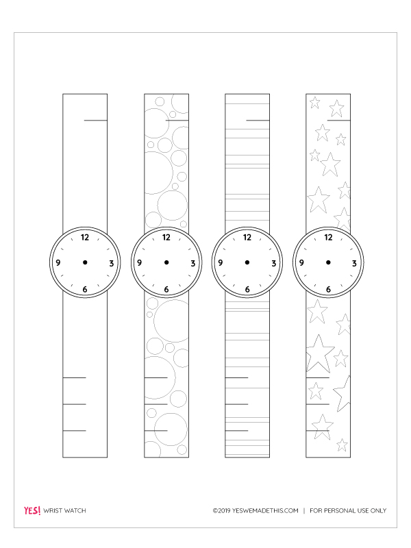 Paper watch printable