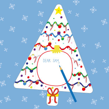 Christmas Tree Card Printable