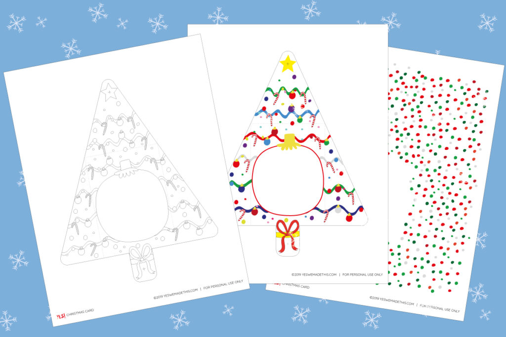Easy Christmas Card Printable Template