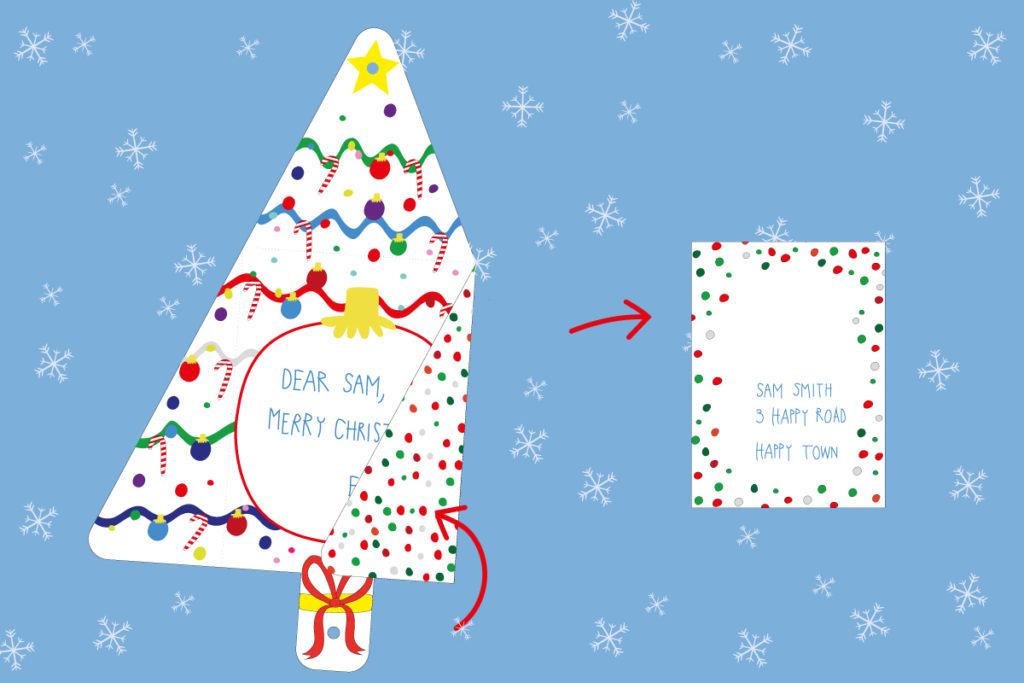 Folding Christmas Tree Card Printable Template