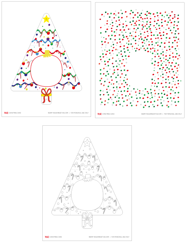 Christmas Tree Printable Card