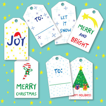 Christmas gift tags to print