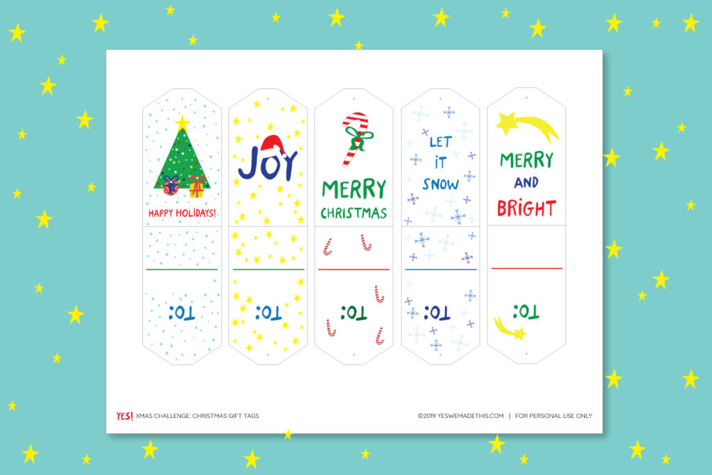 Christmas gift tags printable template