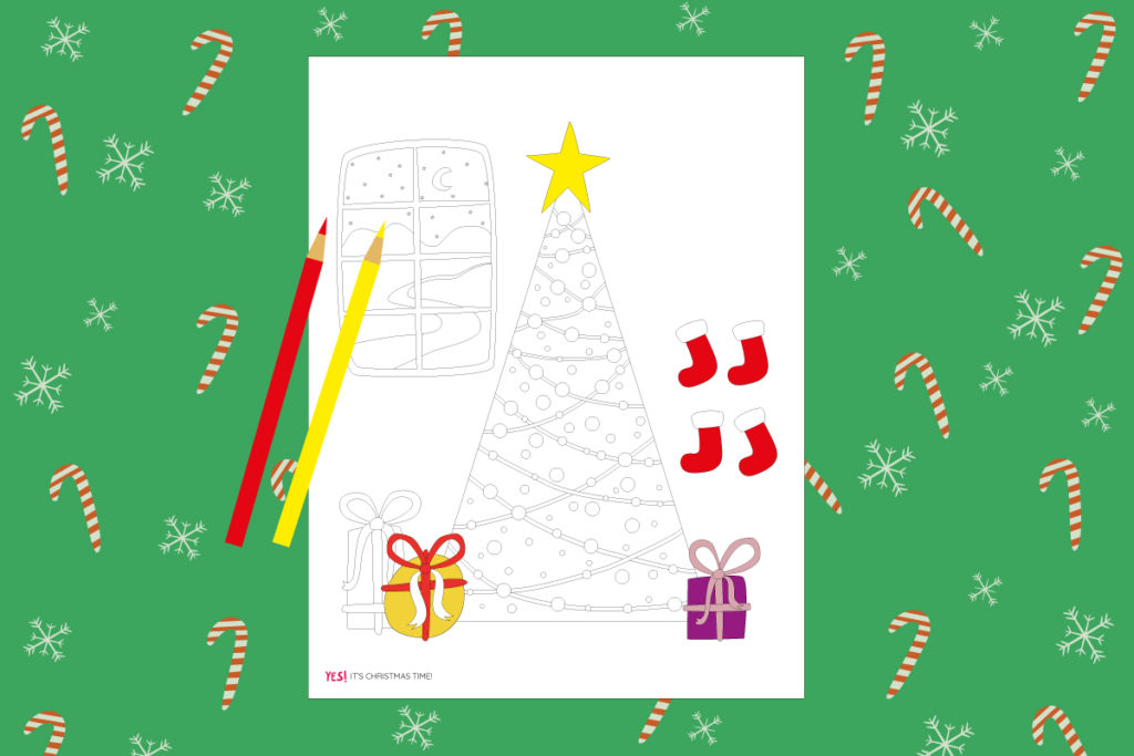 Christmas spirit coloring page