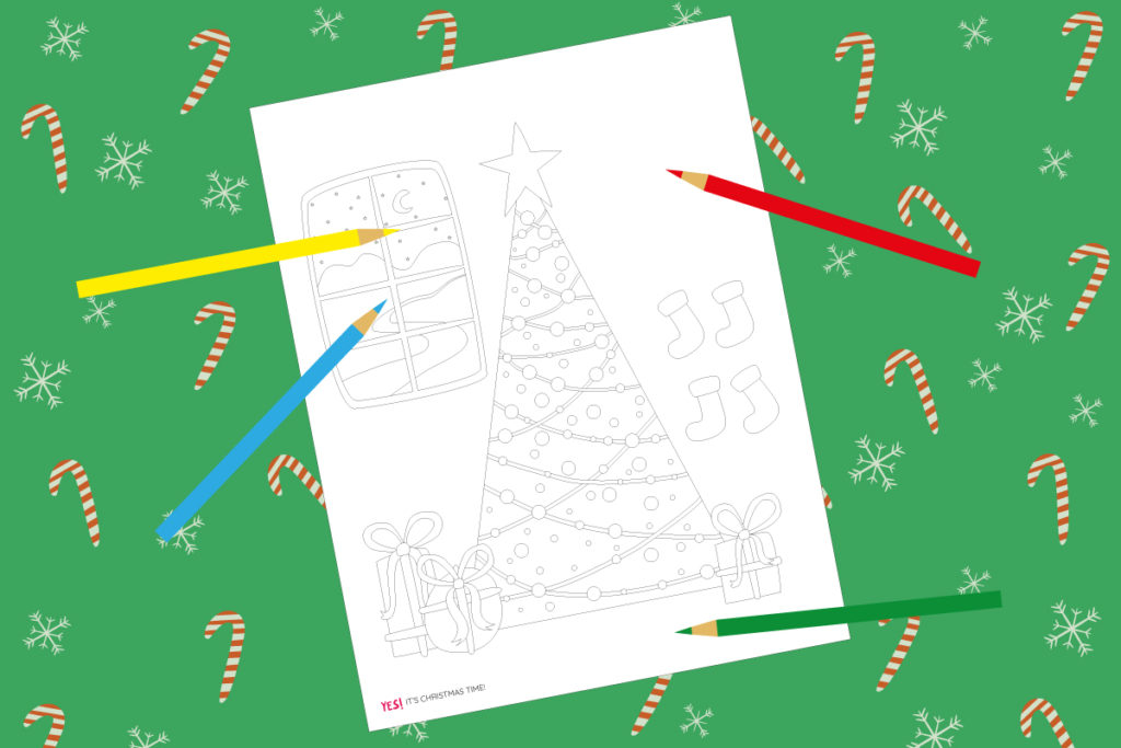 Printable Christmas coloring sheet
