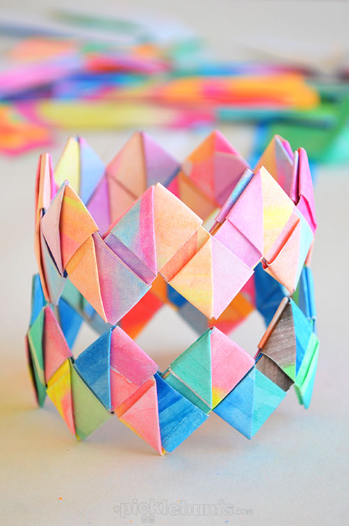 Folded Paper Bracelets by Picklebum
