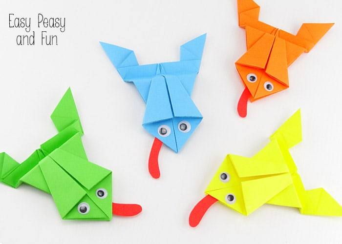 Origami Frogs by Easy Peasy and Fun