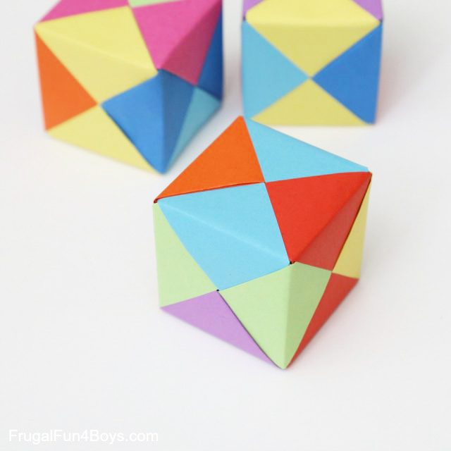 Origami Cubes by Frugal Fun 4 Boys and Girls