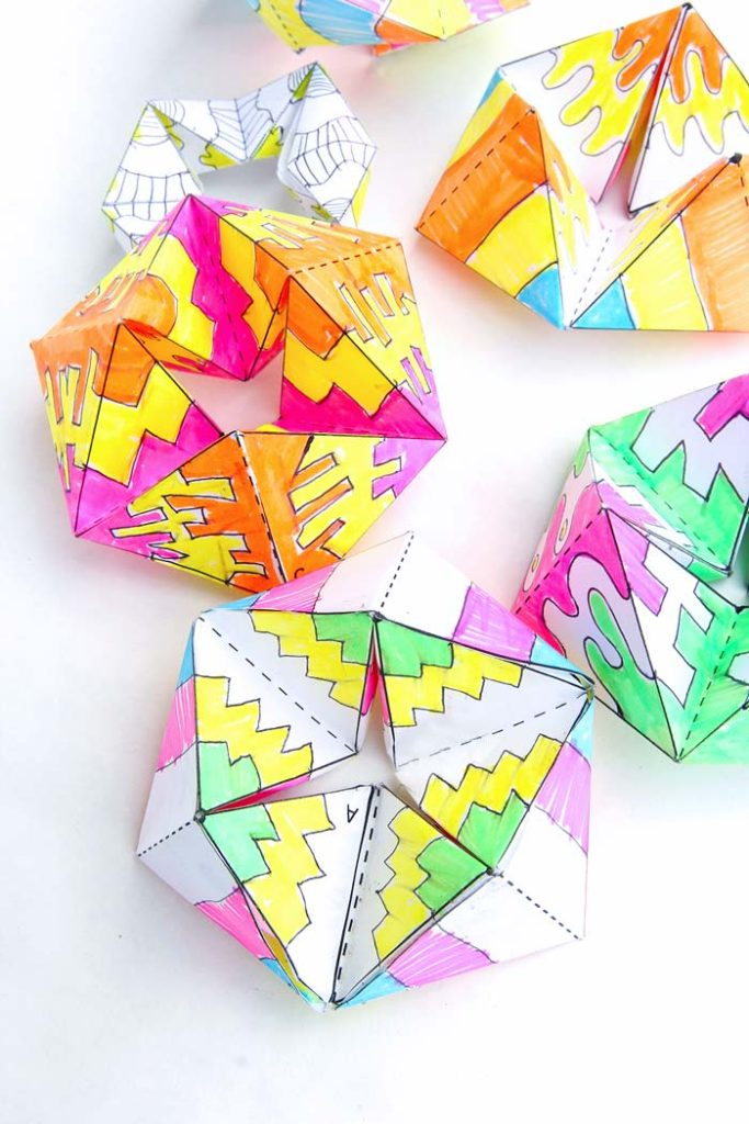 Paper Flextangles by Babble Dabble Do